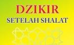 Dzikir setelah Shalat
